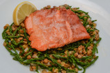 Loch Trout with Samphire and Lentils