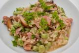 Ham, Mushroom and Broad Bean Risotto