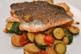 Sea Bass with Braised Vegetables