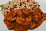 Lamb, Apricot and Courgette Tagine With Couscous