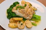 Cod Loin with Lemon Butter Sauce
