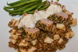 Mustard Pork Fillet with Apple Lentils