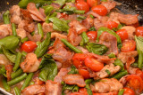 Chicken with Pancetta, Tomatoes and Green Beans