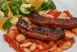 Maple-Glazed Pork with Chilli Beans