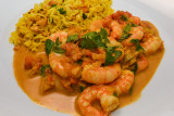 South Indian Prawn Curry with Lemon Rice