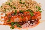 Honey Sriracha Salmon with Egg Fried Rice