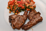 Griddled Lamb Chops with Inzimino