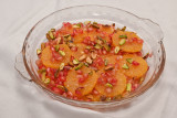 Oranges with Rosewater, Pomegranate and Pistachios