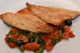 Sea Bass with Mediterranean Tomato Stew