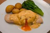 Smoked Haddock with Poached Egg and Tarragon Bearnaise Sauce