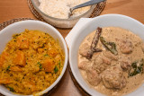 Chicken Korma with Butternut Squash Dhal
