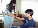 Rakhi with Malika didi