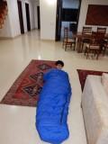 Testing a new sleeping bag