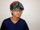 Experimenting with hair dye for school
