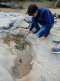 River rock inspection