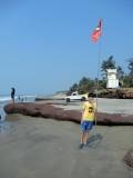 Goa beach flag