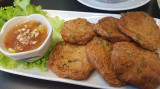 Fish paddies with sweet chli sauce