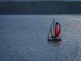 Sailing on the Mississippi Near La Cross, WI