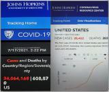 34 Million US Coronavirus Cases (7-17-21)