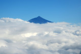 Mount Teide rising from the clouds, Tenerife, Spain