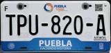 Mexican License Plate - Puebla