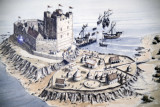 Artists's impression of the Middle Ward, Carrickfergus Castle