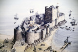 Artist's impression of the Outer Ward, Carrickfergus Castle