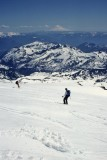 Skiing to Camp Muir