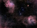 IC 405, la Nébuleuse de l'Etoile flamboyante