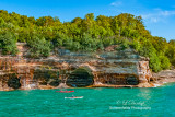 Pictured Rocks - Two Kayakers and Caves