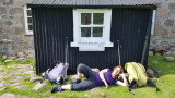 June 19 Fisherfield 6 munro round - rest at shenavall bothy!