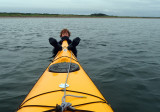 July 19 Chanonry point- Martina gets a ride on a kayak!