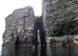 July 19 Dunbeath to Helmsdale sea kayak - Approaching An Dun arch