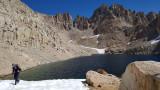 Skirting the highest Crabtree lake heading west