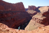 Looking down south into the Escalante river