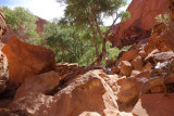 Jumble of boulders in Coyote Gulch