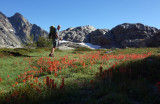 Heading to Twin island Lakes and Indian Paintbrush