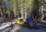 August 2019 Sierra - Back on trail and we camp at Lyell Fork