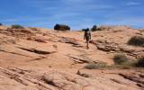 Climbing out of the Escalante to a line shack
