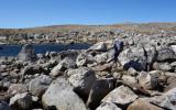 Skirting Lower Desolation Lakes