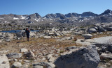 Looking back south to glacier divide