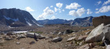 Down in Puppet Lakes basin looking north west