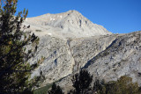 Across to Merriam Peak over French Canyon - An alternative to the Sierra High Route goes up to right of waterfall