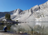 We headed north from French Canyon on the Sierra High Route up to Merriam Lake