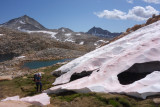 Up to White Bear Lake Pass - this is a cool pretty wild area