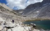 Brown Bear Lake and White Bear Lake Pass above