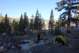 September 2019 Sierra -A very cold camp above the PCT/JMT at Bear Creek