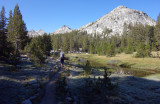 Day 3 11th September 2019 A frosty PCT trail at Bear Creek