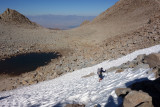 Lamarck Col east side- we happily used the microspikes here on the hard neve