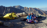 September 2019 Sierra -We found a great camp east of Lamarck Col overlooking Owens Valley and down to Bishop